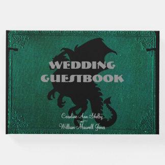 Medieval Dragon Sword Vintage Wedding Guestbook