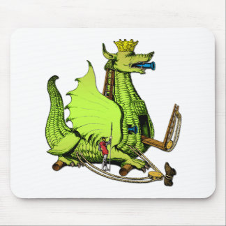 Medieval Dragon War Machine Mouse Pad