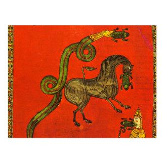 Medieval dragoon postcard