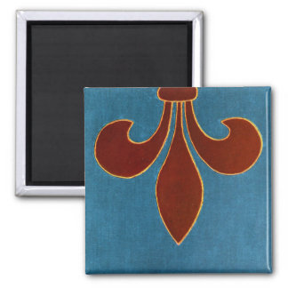 Medieval Embroidery 2 Inch Square Magnet