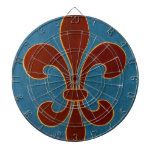 Medieval Embroidery Dartboard With Darts