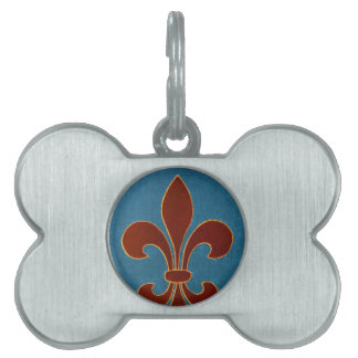 Medieval Embroidery Pet Tag