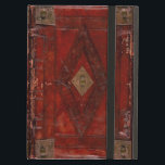 "Medieval Engraved Red Leather Book Cover Design<br><div class=""desc"">This ancient medieval book cover design has all the typical characteristics of age you would expect to see on a book cover dating back to the fifteenth century.</div>"