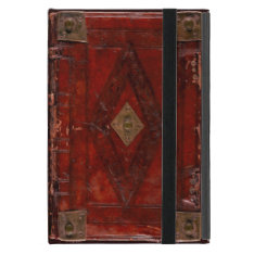 Medieval Engraved Red Leather Book Cover Design Ipad Mini Case at Zazzle