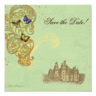 Medieval Fairy Tale Castle 5.25x5.25 Square Paper Invitation Card