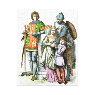 Medieval Family - Period Costumes Canvas Print