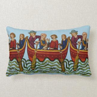 "Medieval Fishing Trip Lumbar Pillow 13"" x 21"""