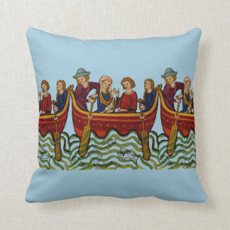 Medieval Fishing Trip Pillow 2