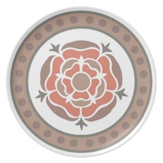 Medieval floral design: Retro flowers & leaves Melamine Plate