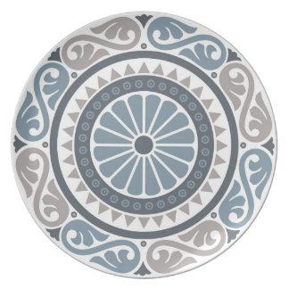 Medieval floral design: Retro flowers & leaves Plate