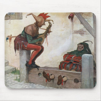 Medieval fools mouse pad