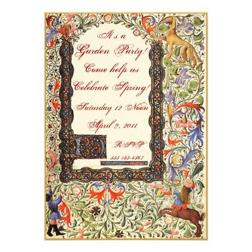 Medieval Garden Party 5X7 Invitations