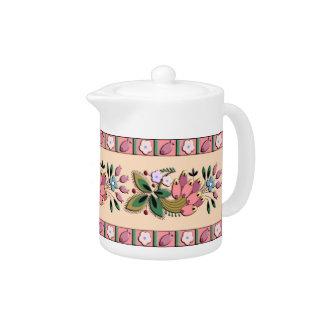 Medieval German border ornament Teapot