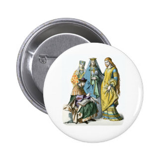 Medieval German  Noble Women - Period Costumes Pinback Button