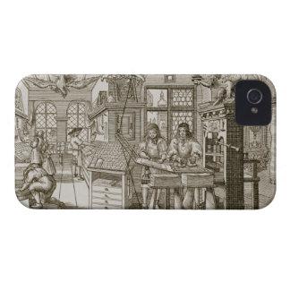 Medieval German printing press (engraving) iPhone 4 Cover