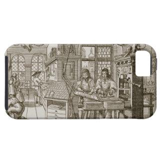 Medieval German printing press (engraving) iPhone SE/5/5s Case