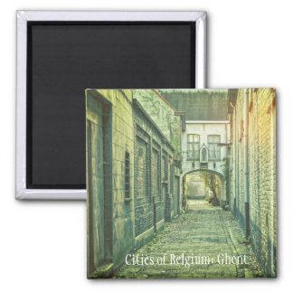 Medieval Ghent, Belgium 2 Inch Square Magnet