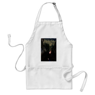 Medieval Girl on Stairs Adult Apron