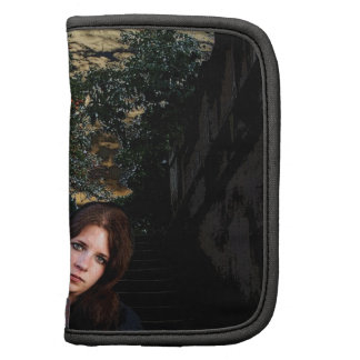 Medieval Girl on Stairs Folio Planners