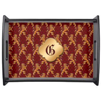 Medieval serving trays food trays zazzle - Fleur de lis serving tray ...