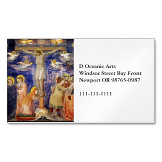 Medieval Good Friday Scene Magnetic Business Card