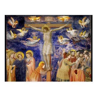 Medieval Good Friday Scene Postcard