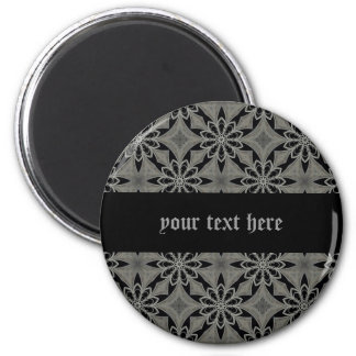 Medieval gothic flower customizable 2 inch round magnet