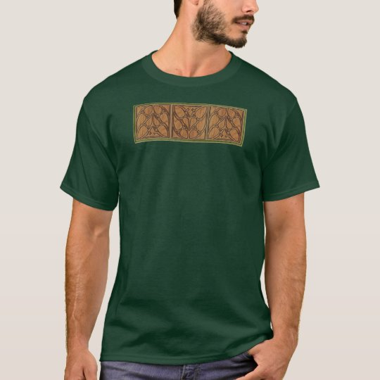 Medieval Gothic Square Triple Panel T-Shirt