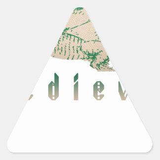 Medieval Green Dragon Triangle Sticker