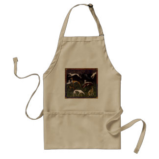 Medieval Greyhound Dogs Fine Art Adult Apron