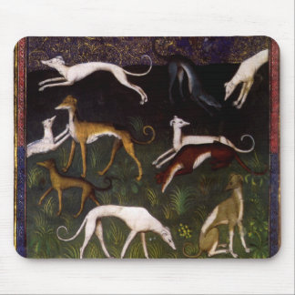 Medieval Greyhounds Fine Art Mouse Pads