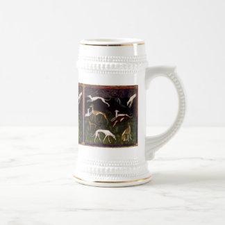 Medieval Greyhounds Fine Art Stein
