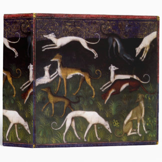 Medieval Greyhounds in the Deep Forest 3 Ring Binder