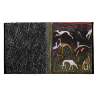 Medieval Greyhounds in the Deep Forest iPad Folio Case