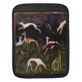 Medieval Greyhounds in the Deep Forest Sleeves For iPads