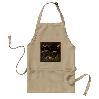 Medieval Greyhounds in the Deep Woods Adult Apron