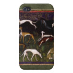 Medieval Greyhounds in the Deep Woods Cases For iPhone 4