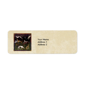 Medieval Greyhounds in the Deep Woods Custom Label