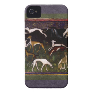 Medieval Greyhounds in the Deep Woods iPhone 4 Case