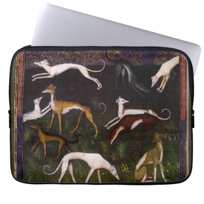Medieval Greyhounds in the Deep Woods Laptop Computer Sleeves