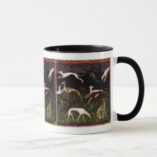 Medieval Greyhounds in the Deep Woods Mug
