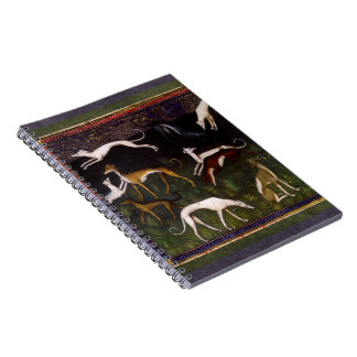 Medieval Greyhounds in the Deep Woods Notebook