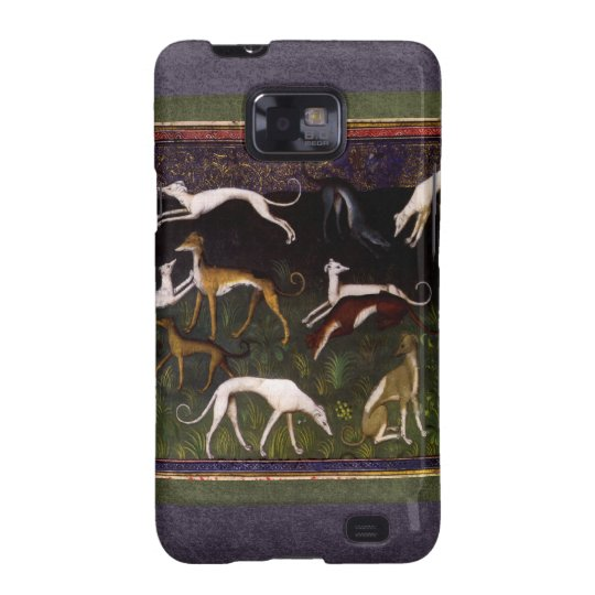 Medieval Greyhounds in the Deep Woods Samsung Galaxy SII Case
