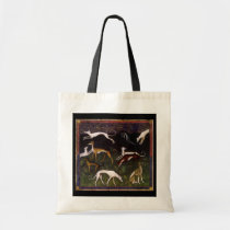 Medieval Greyhounds in the Deep Woods Tote Bag