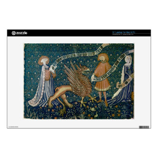 Medieval gryphon tapestry skin for laptop macbook laptop decal