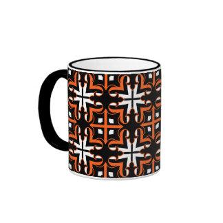 Medieval Halloween colors kaleidoscope pattern Ringer Mug