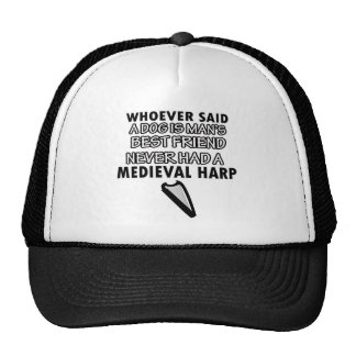 medieval harp Dance Designs Trucker Hat
