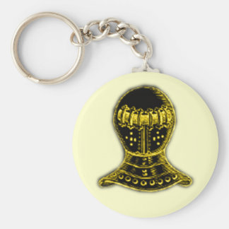 Medieval Helmet Basic Round Button Keychain