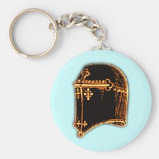 Medieval Helmet III Basic Round Button Keychain