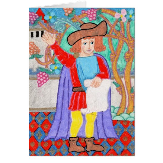 Medieval Herald Note Card